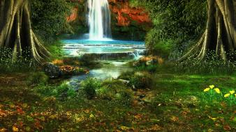 Nature earth waterfalls wallpaper