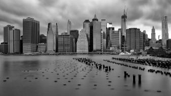 New york city monochrome wallpaper
