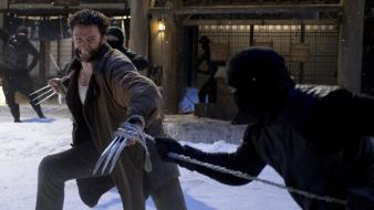 Ninjas wolverine hugh jackman chains claws swords still wallpaper