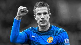 Premier league stars cutout rvp football player wallpaper