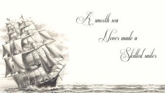 Quotes ships drawings white background wallpaper
