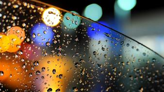Rain waterdrops Wallpaper