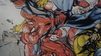 Spider-man wolverine drawings spider-woman hulk wallpaper