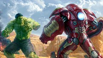Superheroes digital art marvel the hulk hulkbuster wallpaper