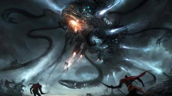 Tentacles fantasy art alien wallpaper