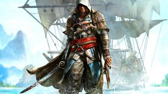 Video games artwork black flag assassins creed 4: wallpaper