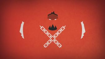 Video games minimalistic red retro shank wallpaper