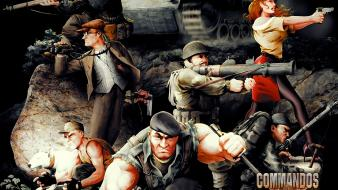 Video games retro team commandos game wallpaper