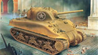 War military tanks m4 sherman wallpaper