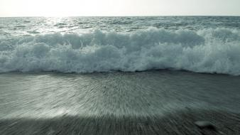 Water waves beach wallpaper