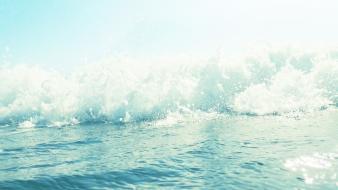 Waves summer splashes sea wallpaper