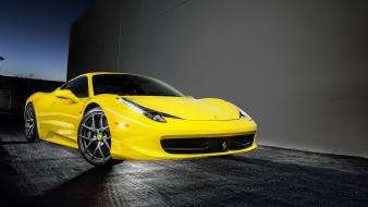 Yellow cars ferrari 458 italia static vorsteiner Wallpaper