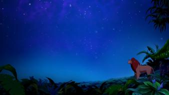 Animated movies the lion king jungle night sky Wallpaper
