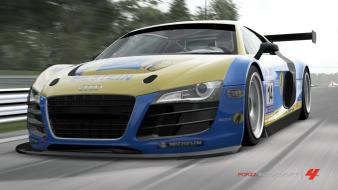 Audi r8 lms forza motorsport 4 nordschleife game wallpaper