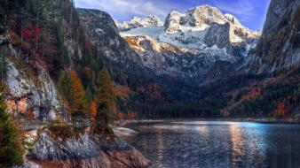 Austria colors forests go lakes wallpaper