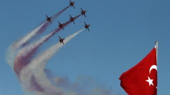 Ay turk turkish air force forces flag wallpaper