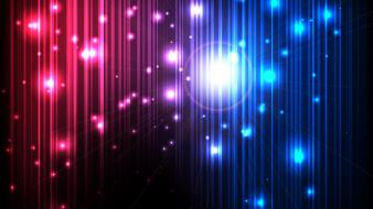 Blue red lights multicolor vector magic graphics wallpaper
