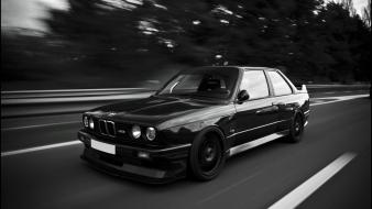 Bmw e30 m3 black and white wallpaper