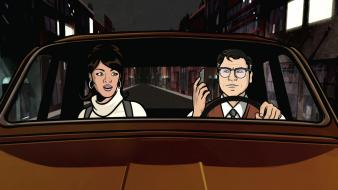 Cars archer (tv) cyril figgis lana kane wallpaper