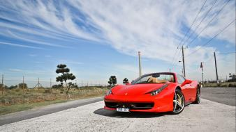 Cars skies ferrari 458 spider wallpaper