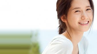 Celebrity asians korean singers im yoona ponytails wallpaper