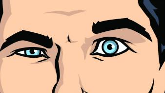 Close-up eyes eyebrows sterling archer (tv) wallpaper