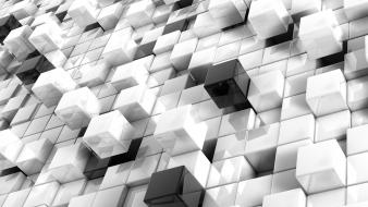 Cubes white and black Wallpaper