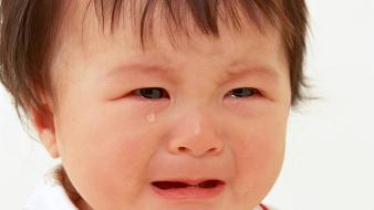 Cute baby crying wallpaper