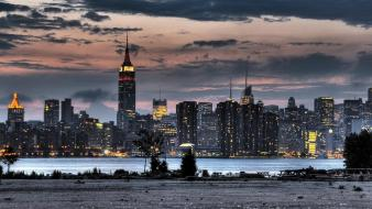Empire new york city cities lights landscapes wallpaper
