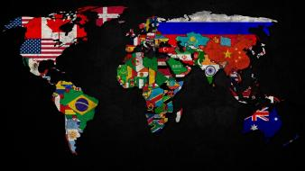 Flags maps Wallpaper