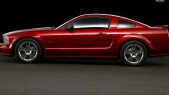 Ford mustang gt muscle car red paint wallpaper