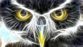 Fractalius owls artwork wallpaper