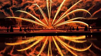 Geographic reflections vaux le vicomte fire work wallpaper