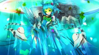 Girls mecha musume underwater ornaments bangs gatling Wallpaper