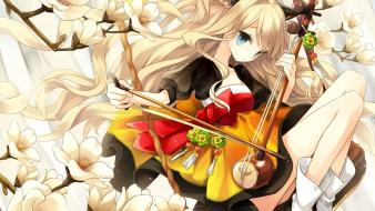 Girls seeu branches ornaments bangs korean clothes Wallpaper