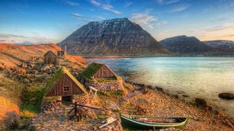 Iceland coast landscapes mountains nature wallpaper