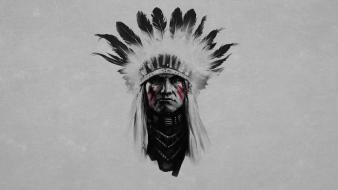 Indian chief head wallpaper