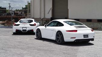 Italia porsche 911 (991) cars parking rims wallpaper