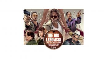 Lebowski dude fan art movies white background Wallpaper