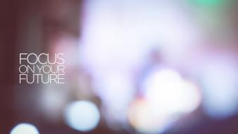 Lights text quotes future bokeh blurred Wallpaper