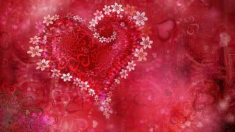 Love heart flowers Wallpaper