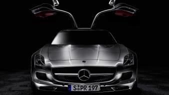 Mercedes benz black background cars Wallpaper