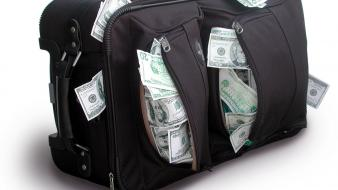 Money dollars bag wallpaper