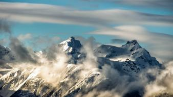 Mountains clouds nature canada british columbia wallpaper