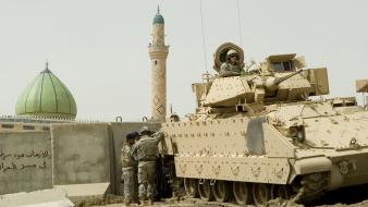 Nato baghdad armoured personnel carrier fallujah m2 wallpaper
