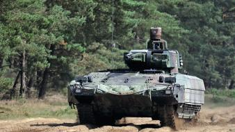 Nato isaf heer armoured personnel carrier forest Wallpaper
