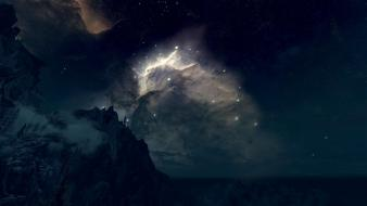 Night stars the elder scrolls v: skyrim Wallpaper