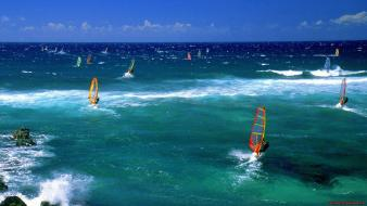Ocean wind hawaii surfing sea wallpaper