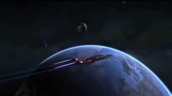 Outer space star trek shot monitor wallpaper