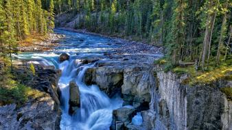 Rivers jasper national park sumwapta falls river wallpaper